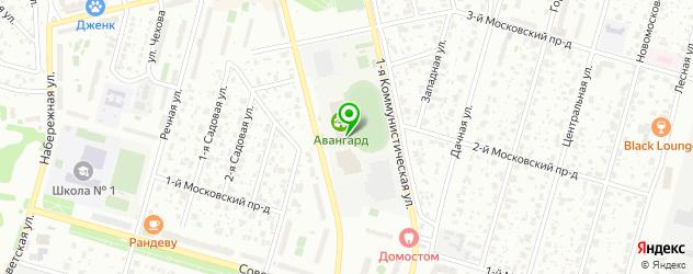стадионы на карте Домодедово