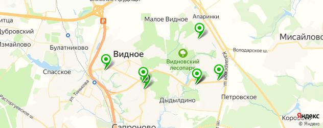 шиномонтажи на карте Видного