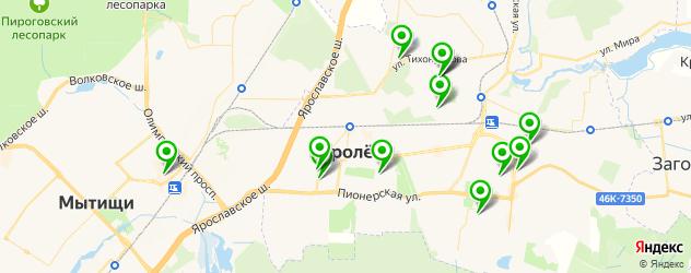 спортивные секции на карте Королева