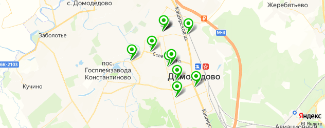 Доставка пиццы на карте Домодедово