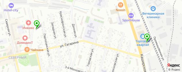 вегетарианские кафе на карте Домодедово