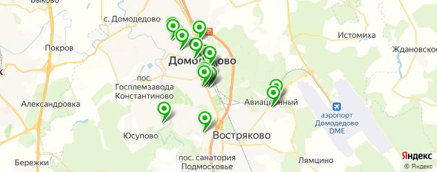 Спорт и фитнес на карте Домодедово