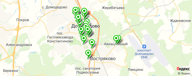 Красота на карте Домодедово