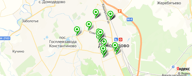 Доставка обедов на карте Домодедово
