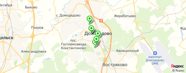 лаборатории анализов на карте Домодедово