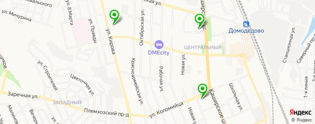 детские стоматологические поликлиники на карте Домодедово