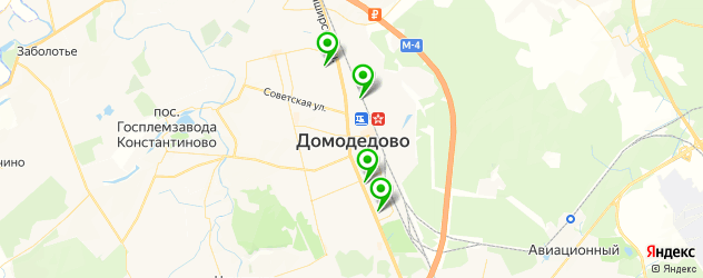 диспансеры на карте Домодедово