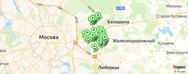 рестораны на карте Реутова