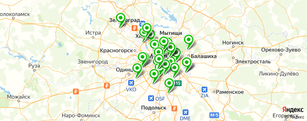 обслуживание компьютеров на карте Москвы