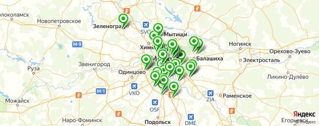 компьютерные помощи на карте Москвы