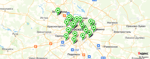 Заправка картриджей Epson на карте Москвы