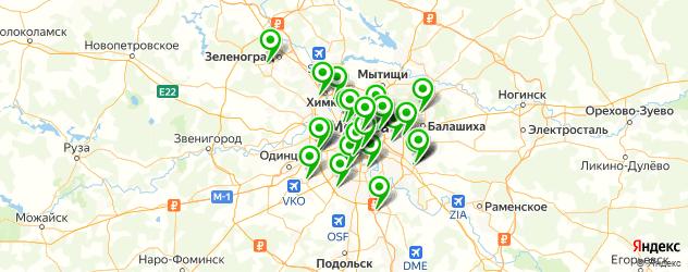 сервисные центры GIGABYTE на карте Москвы