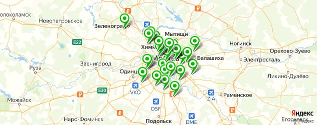 сервисные центры Dell на карте Москвы