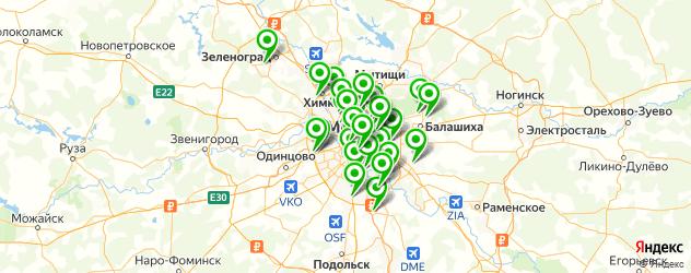 настройка компьютера на карте Москвы
