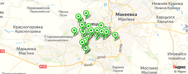 автосервисы на карте Донецька