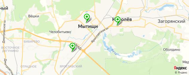квесты на карте Мытищ