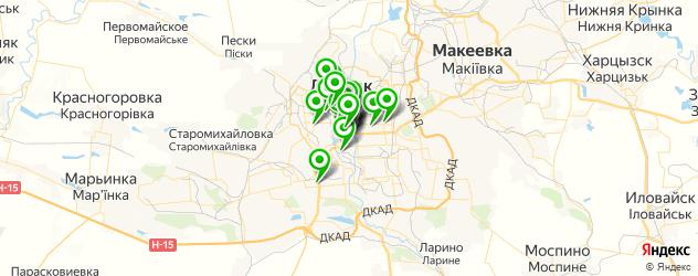 парикмахерские на карте Донецька