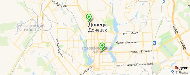 центры профориентации на карте Донецька