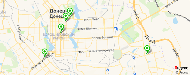 боулинги на карте Донецька