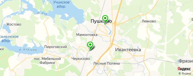 столовые на карте Пушкино