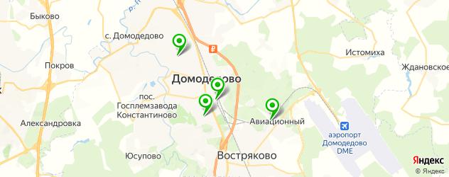 гаражи на карте Домодедово