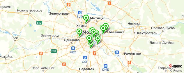 автоаукционы на карте Москвы