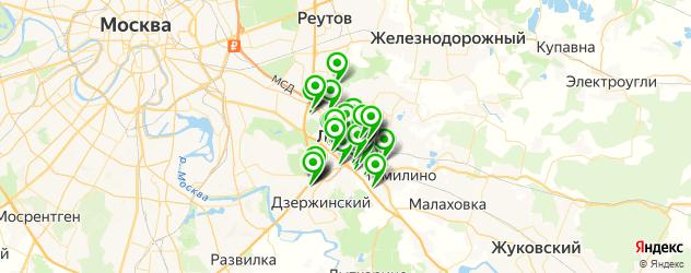 замена сайлентблоков на карте Люберец