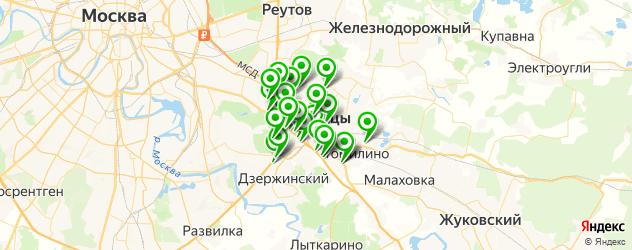 Авто на карте Люберец