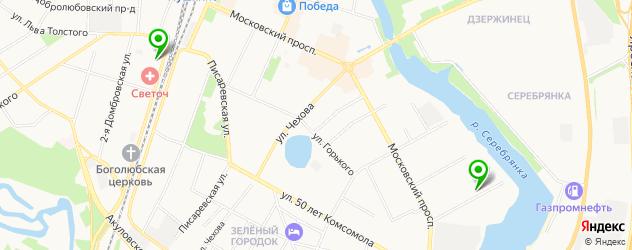 академии на карте Пушкино