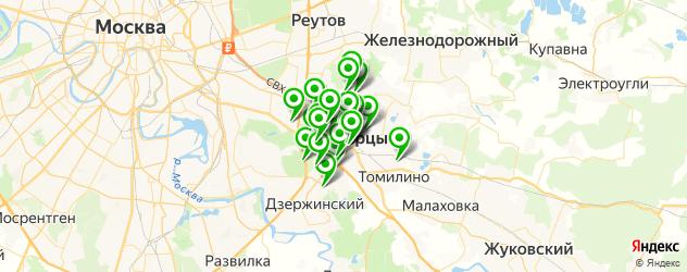 терминалы оплаты на карте Люберец