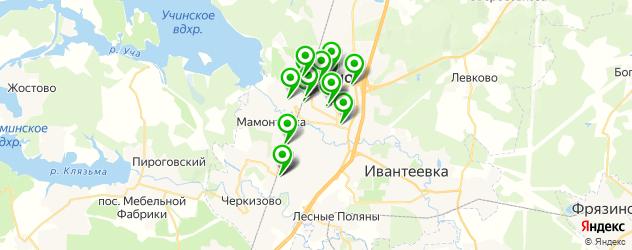 детские клубы на карте Пушкино