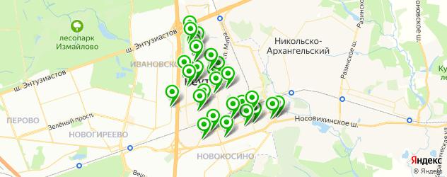 детские клубы на карте Реутова