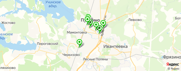 Доставка роллов на карте Пушкино