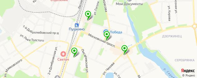 ортопедические магазины на карте Пушкино