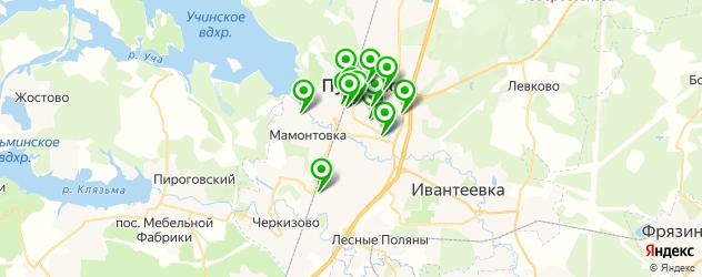 медицинские центры на карте Пушкино