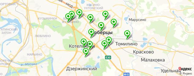 библиотеки на карте Люберец