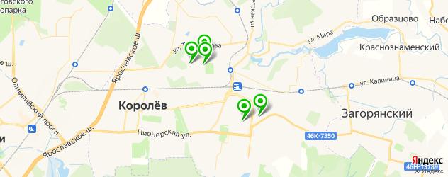 женские фитнес-клубы на карте Королева