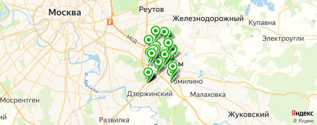 банкоматы на карте Люберец