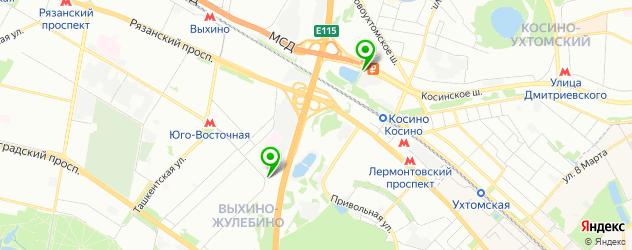 парковки на карте Люберец