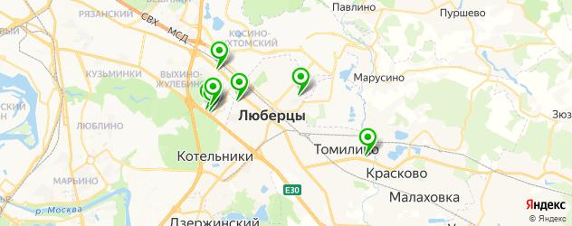 караоке-клубы на карте Люберец