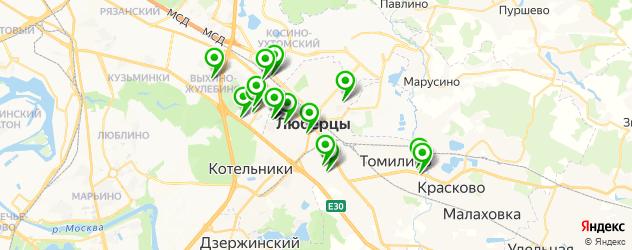 бары с танцполом на карте Люберец