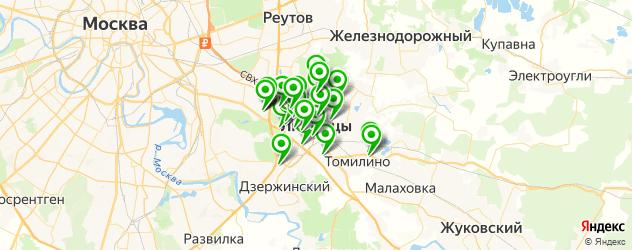 бары на карте Люберец