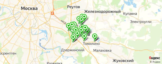 Развлечения на карте Люберец