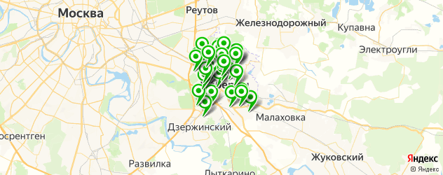 школы на карте Люберец