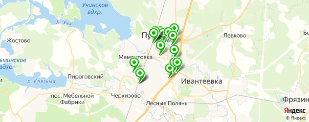 поминки на карте Пушкино
