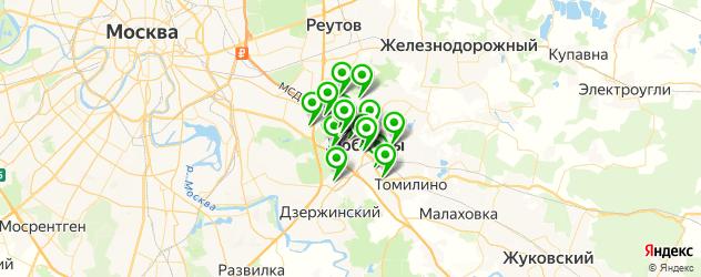 банки на карте Люберец