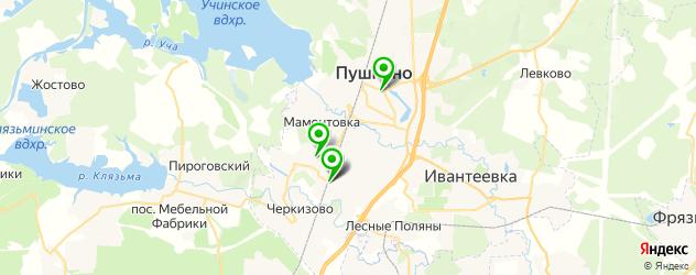 русские рестораны на карте Пушкино