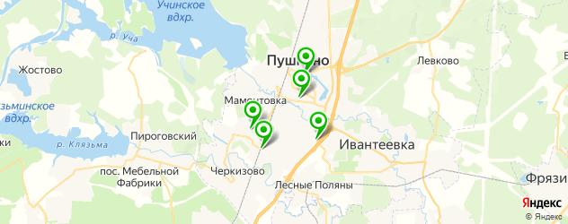 рестораны с живой музыкой на карте Пушкино