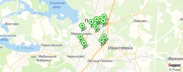 живая музыка на карте Пушкино