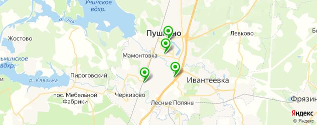 постные меню в ресторанах на карте Пушкино